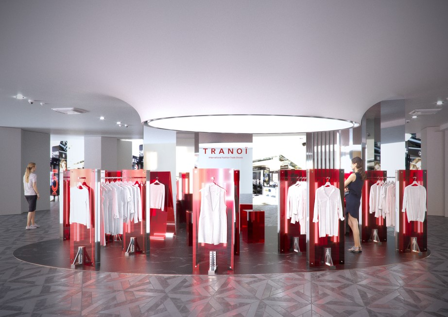 A rendering of the Tranoï space at Galeries Lafayette.