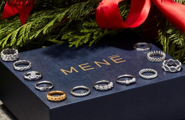Rings from the new online jeweler Mene, which is listed on the Toronto Stock Exchange