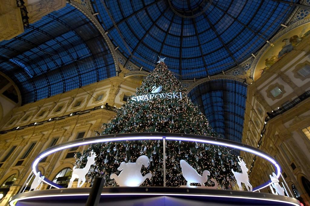 Swarovski's Christmas tree in Milan.