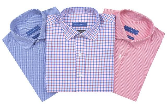 A sampling of the shirts in the Alton Lane subscription shirt box.