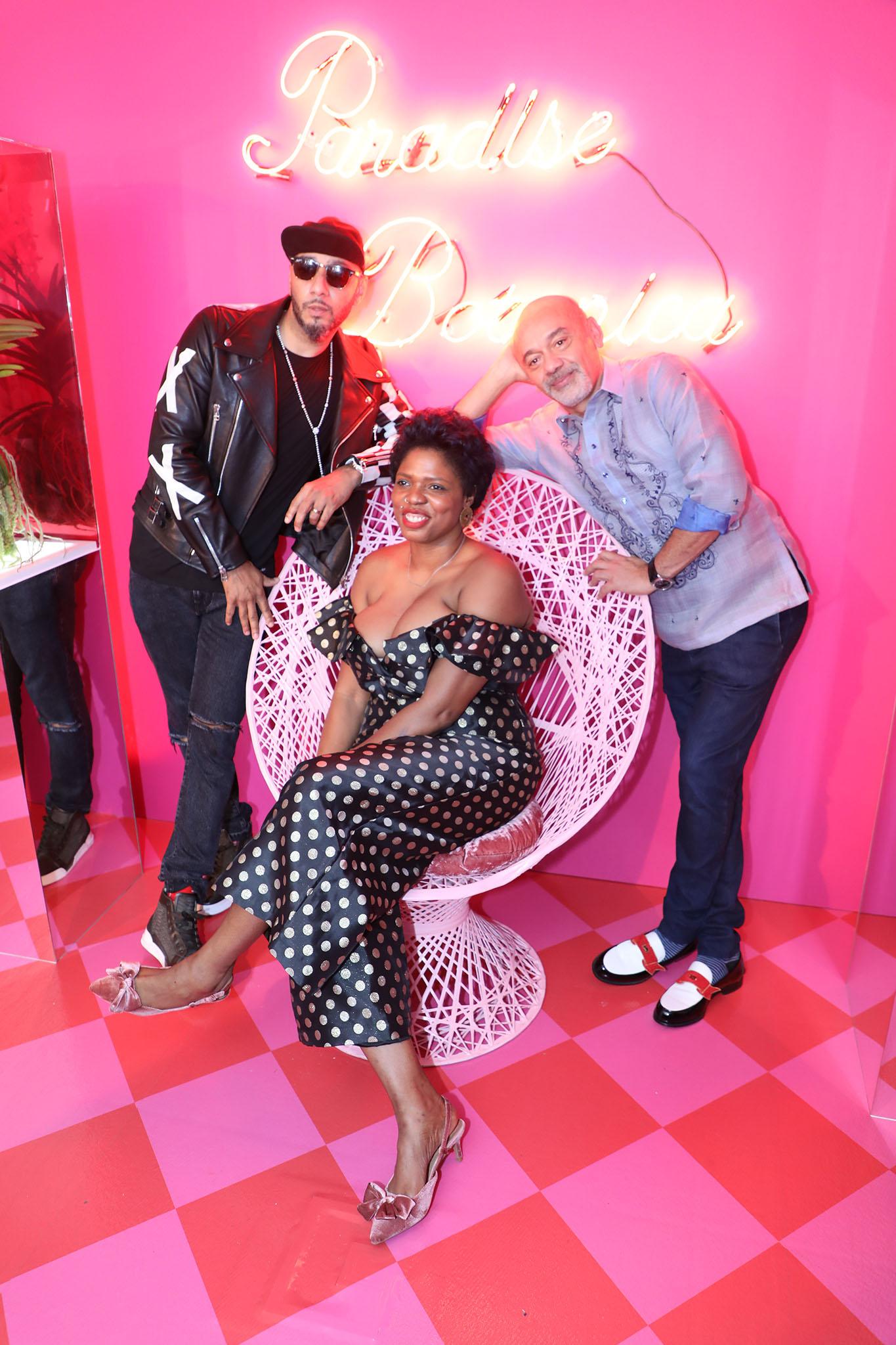 Swiss Beatz, Ebony G. Patterson, and Christian Louboutin