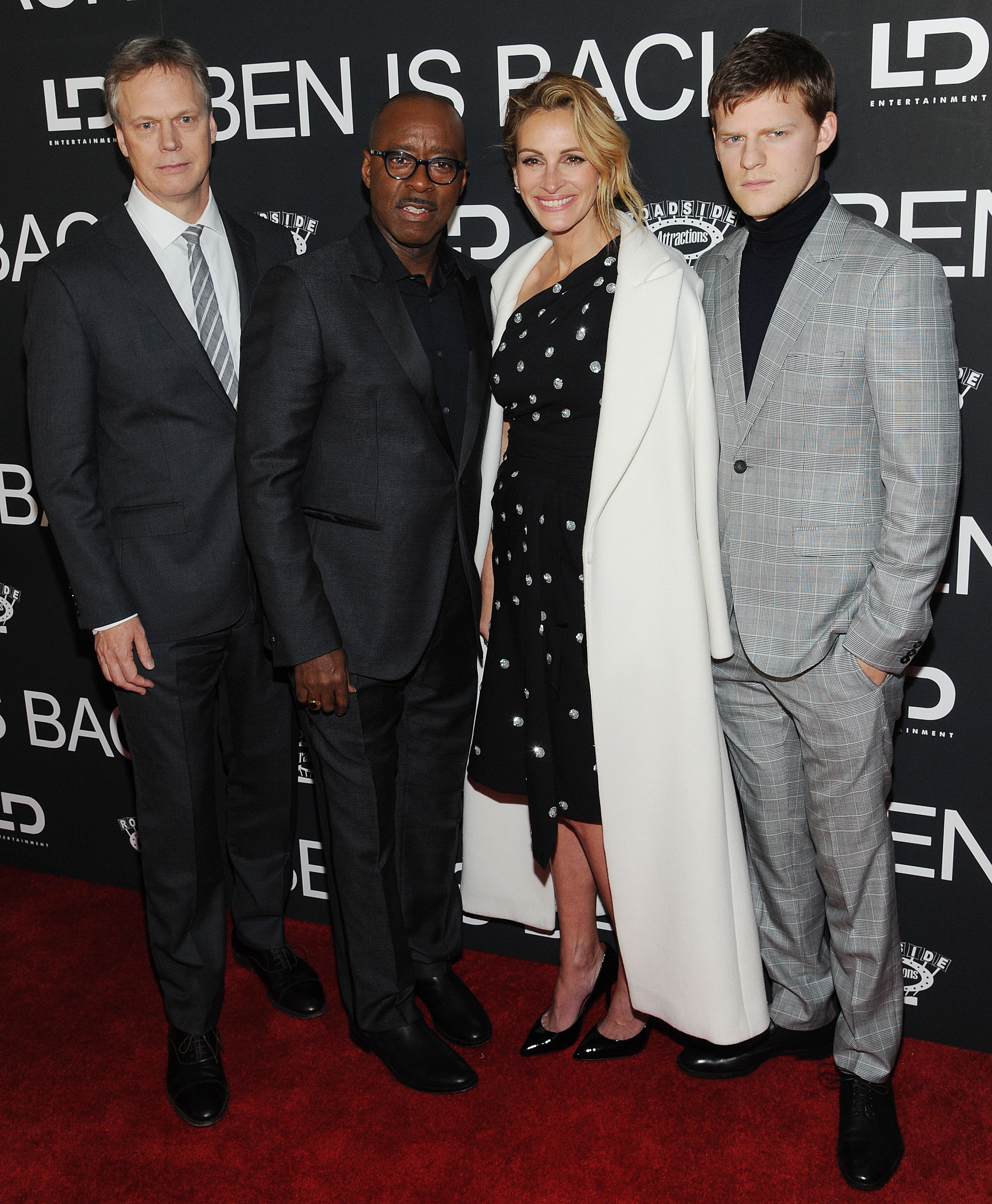 Peter Hedges, Courtney B Vance, Julia Roberts, Lucas Hedges'Ben Is Back' film premiere, Arrivals, New York, USA - 03 Dec 2018Ben Is Back New York Premiere