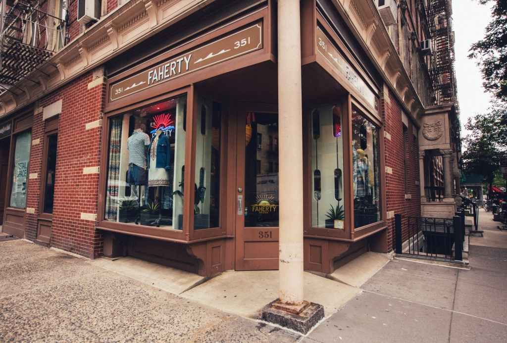 The Faherty store was a pop-up that has now become permanent.