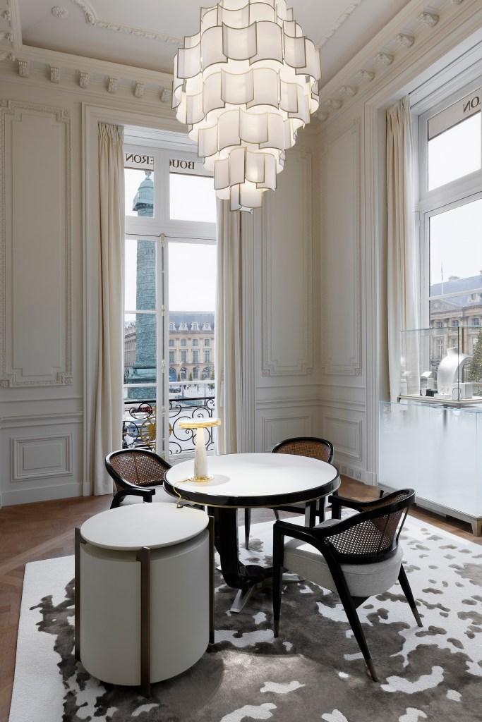 """Boucheron's """"salon des lumières"""" in the Place Vendôme building."""