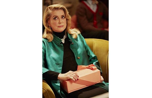 "Catherine Deneuve in Roger Vivier's ""Duo des Chats."""