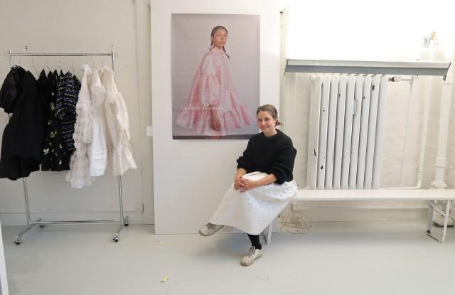 Designer Cecilie Bahnsen in her studio.