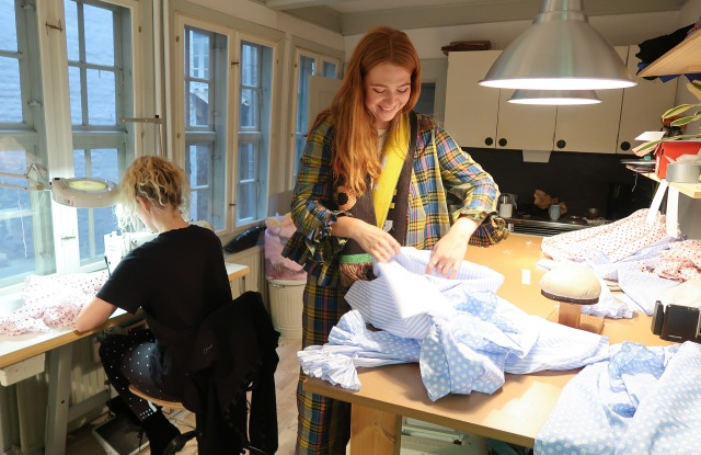 Designer Sofie Sol in her Copenhagen studio.
