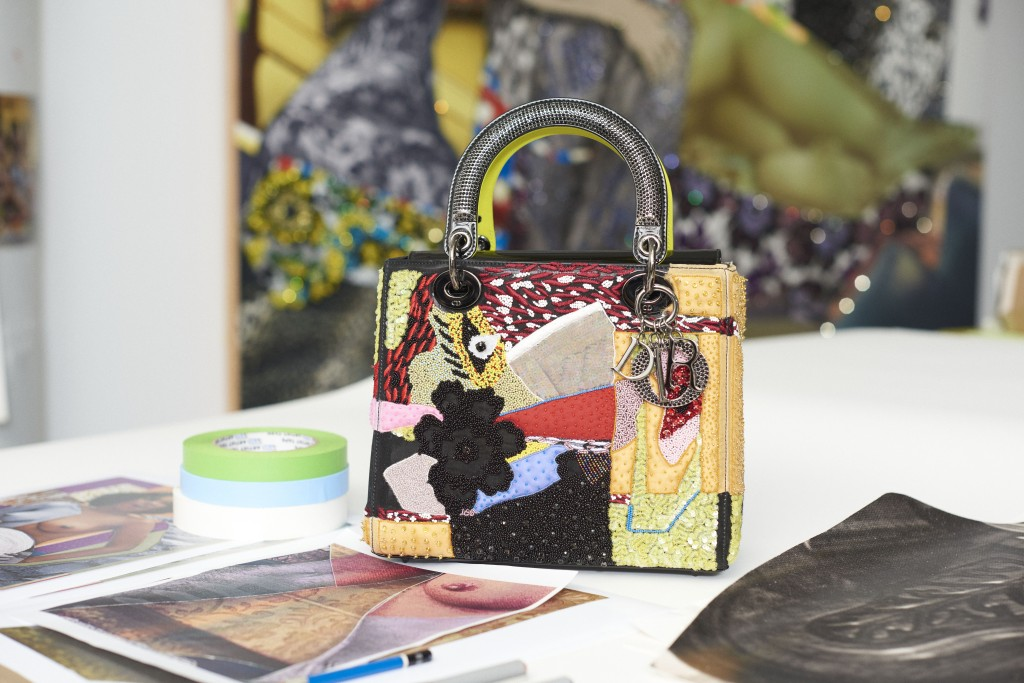 Dior Lady Art bag by Mickalene Thomas.
