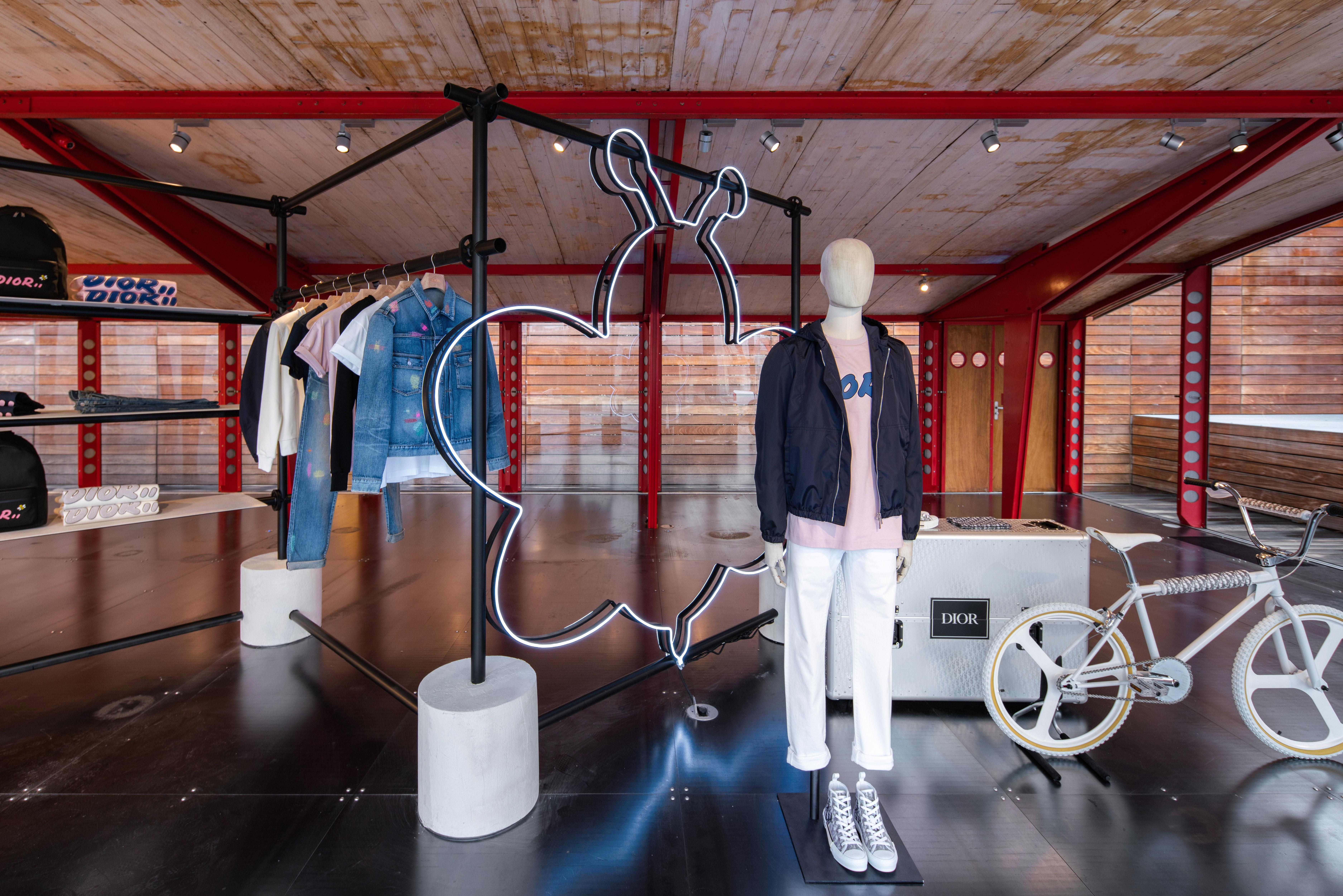 Inside the Dior Men x KAWS Summer Capsule at Maxfield