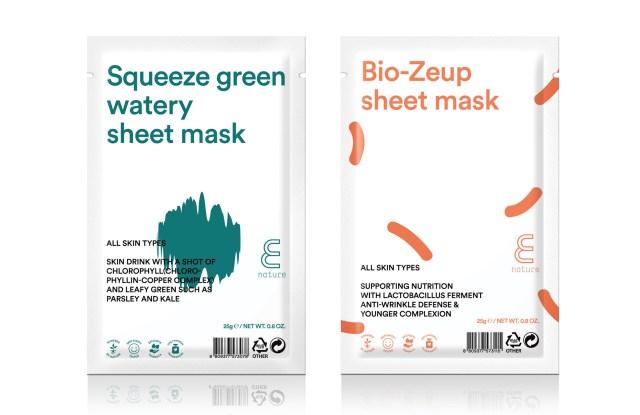 E Nature Eco-Friendly Sheet Masks