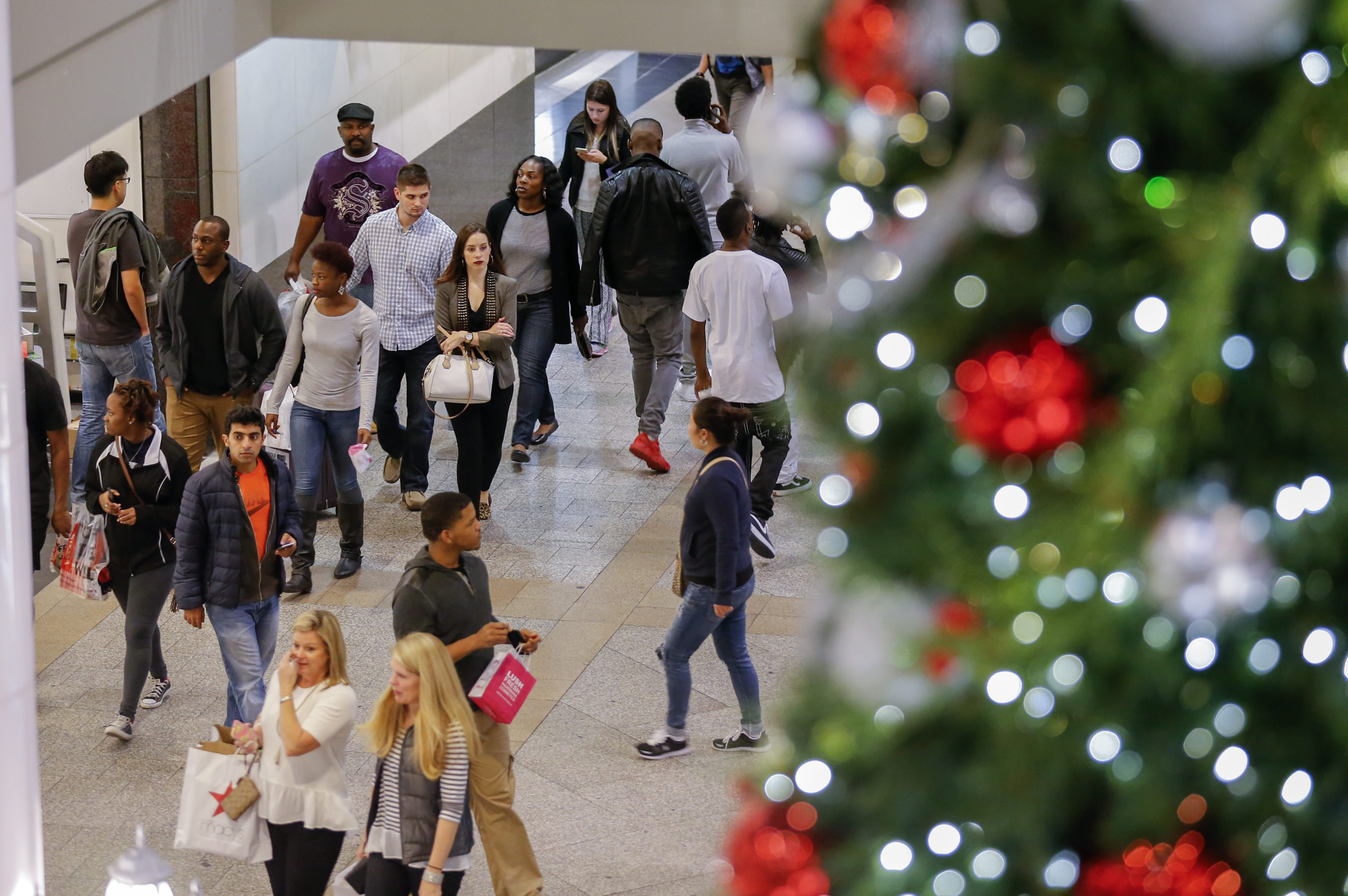 Holiday shoppers on Super Saturday