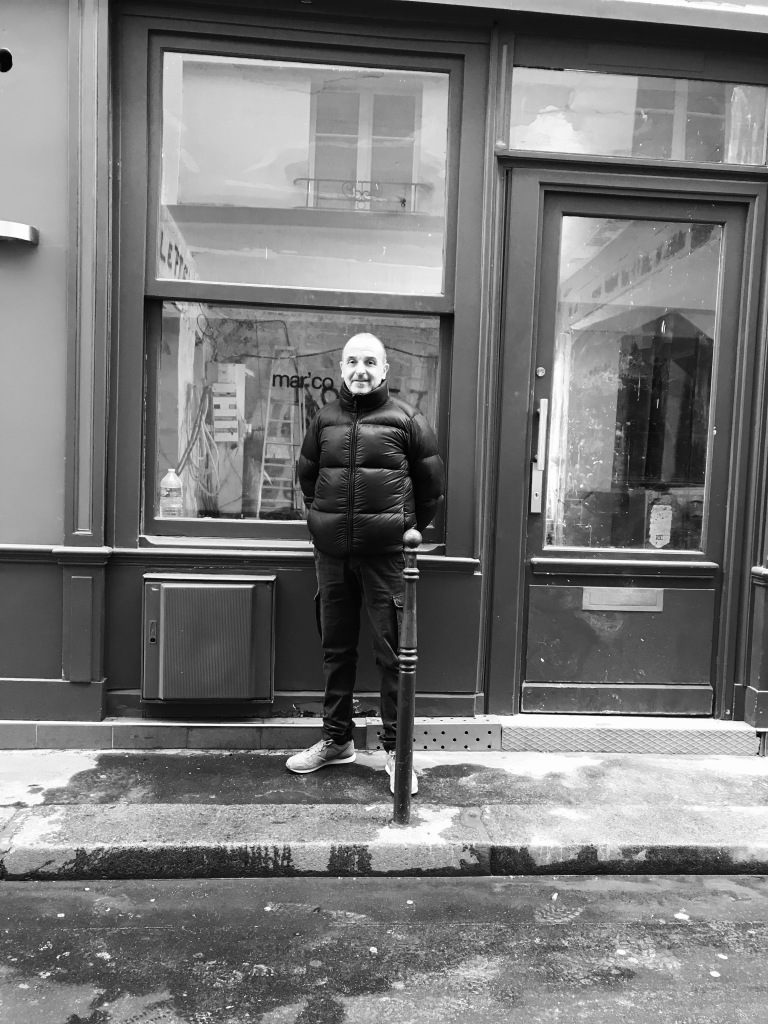 Marco Giami in front of his new restaurant