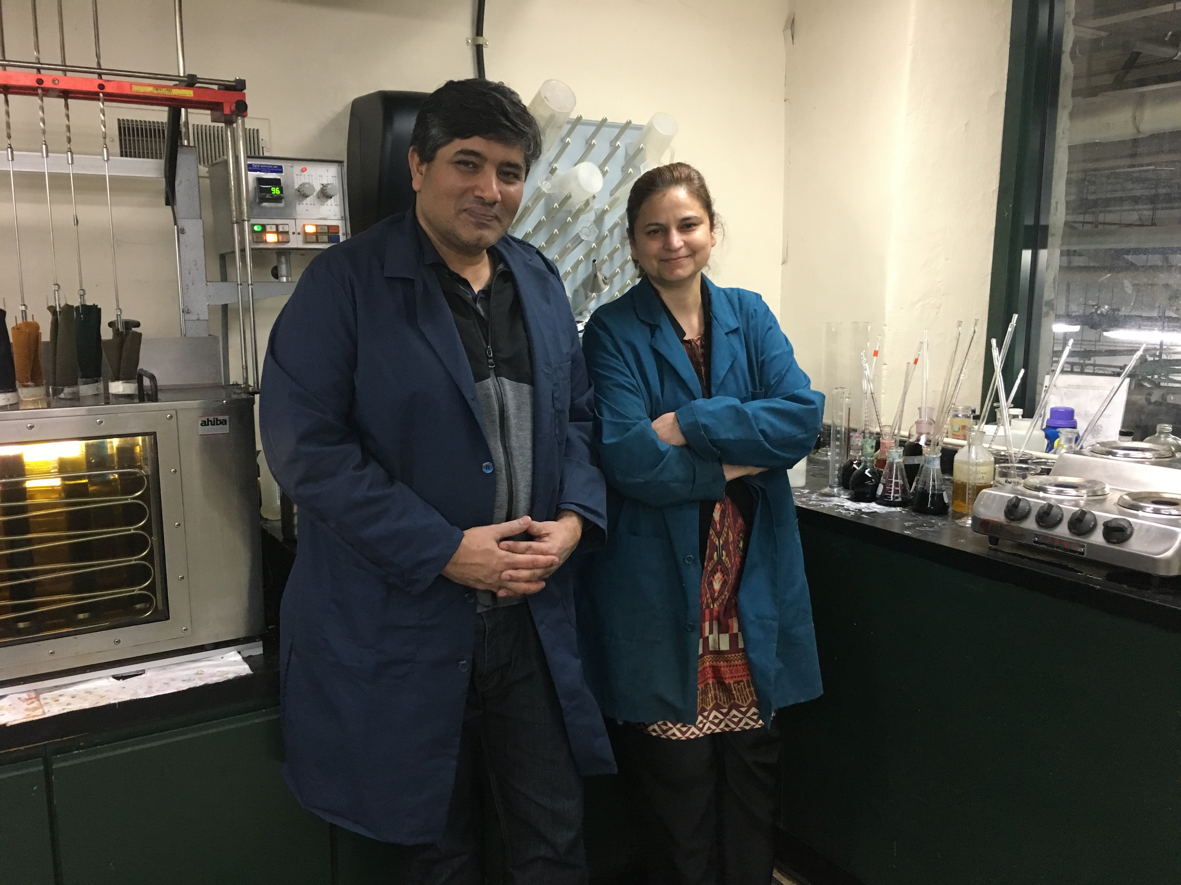 Muhammad Malik and Raana Jabeen, a husband and wife team at American Woolen Co. Photo courtesy of American Woolen Co.