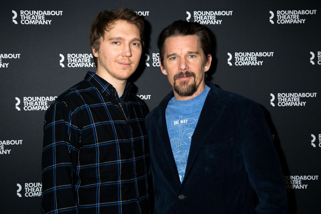 """Paul Dano and Ethan Hawke at the """"True West"""" play opening in New York."""
