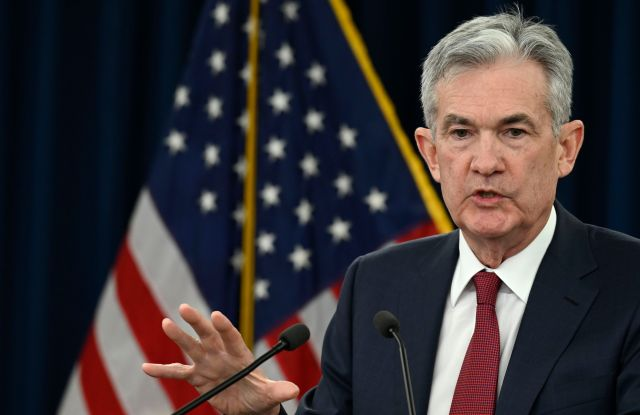 Federal Reserve Chairman Jerome Powell speak at a news conference in Washington, . The Federal Reserve is raising its key interest rate for the fourth time this year to reflect the U.S. economy's continued strength but signaling that it expects to slow hikes next yearFederal Reserve Powell, Washington, USA - 19 Dec 2018
