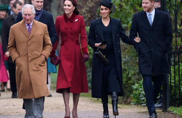Prince Charles, Prince William, Catherine Duchess of Cambridge, Meghan Duchess of Sussex and Prince HarryChristmas Day church service, Sandringham, Norfolk, UK - 25 Dec 2018