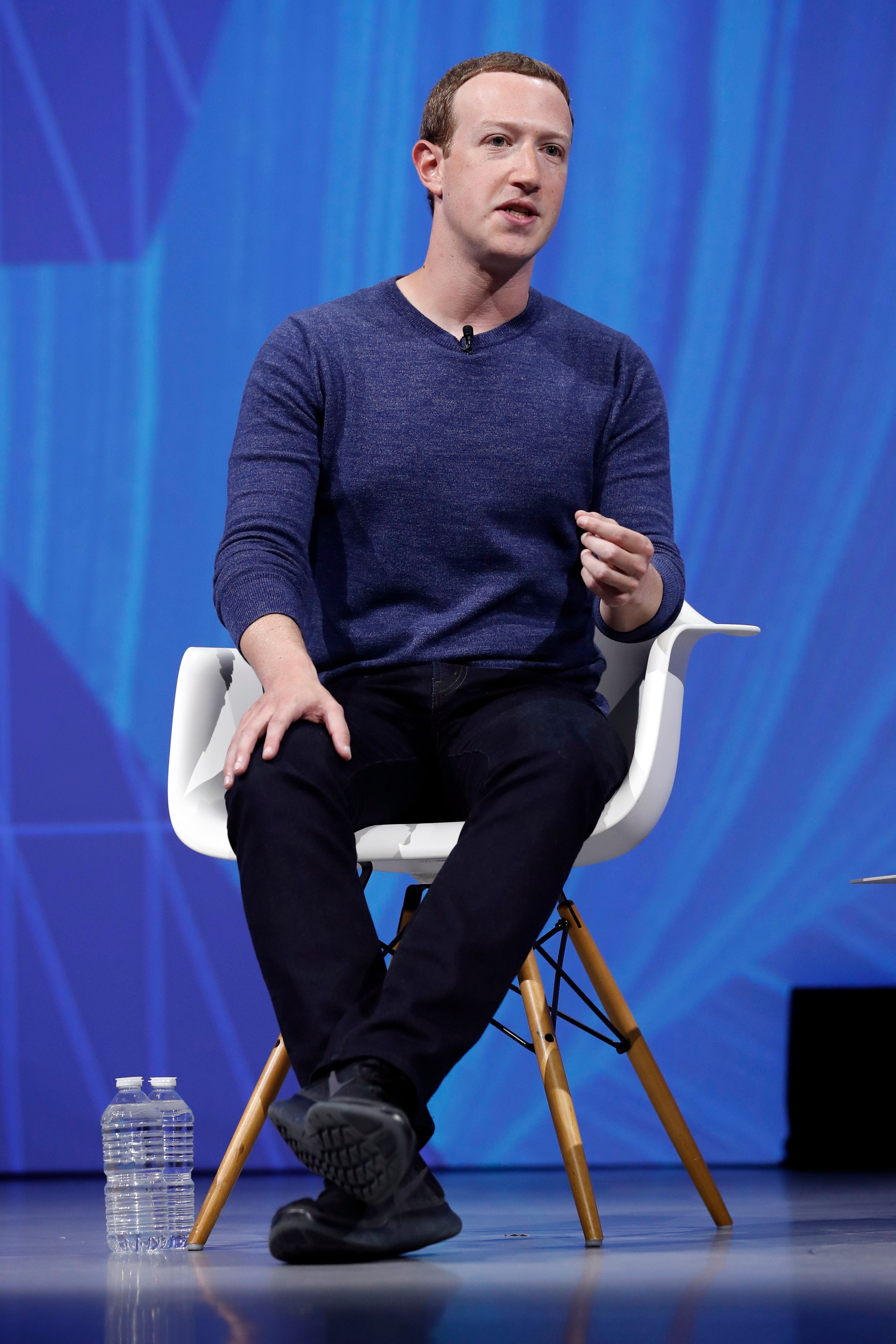 Mark ZuckerbergVivaTech fair in Paris, France - 24 May 2018Facebook CEO Mark Zuckerberg speaks during the VivaTech fair in Paris, France, 24 May 2018. The annual commercial convention runs from the 24 to 26 May.
