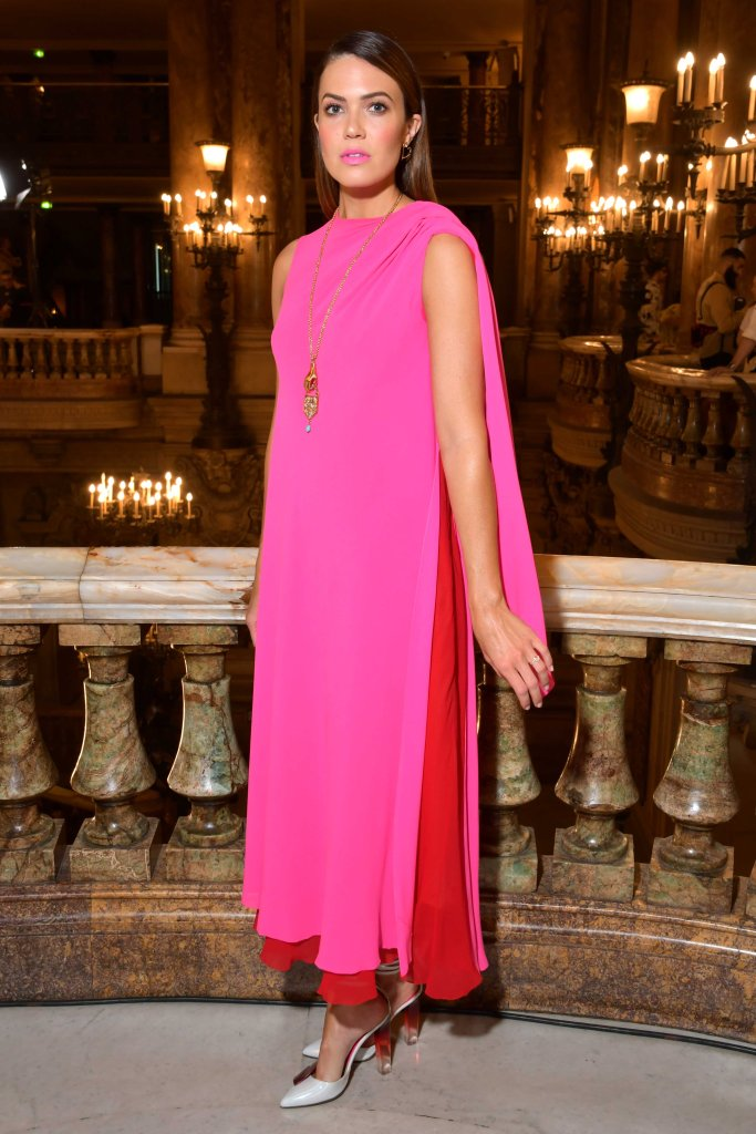 Mandy Moore in the front rowSchiaparelli show, Front Row, Fall Winter 2018, Haute Couture Fashion Week, Paris, France - 02 Jul 2018WEARING SCHIAPARELLI SAME OUTFIT AS CATWALK MODEL *7973445b