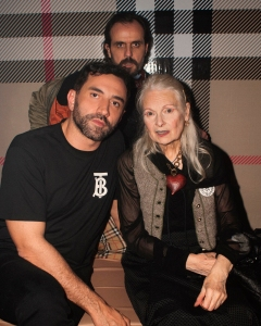 Riccardo Tisci, Vivienne Westwood and Andreas Kronthaler at the launch of the Vivienne Westwood & Burberry collaboration launch party