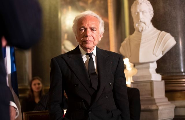 Ralph Lauren at the Ch‰teau de Versailles Dinner celebrating the designer.