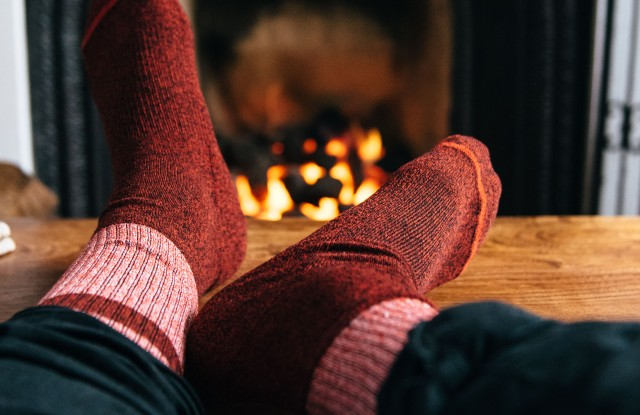 A pair of upcycled socks from Arvin Goods. Photo courtesy of Arvin Goods.