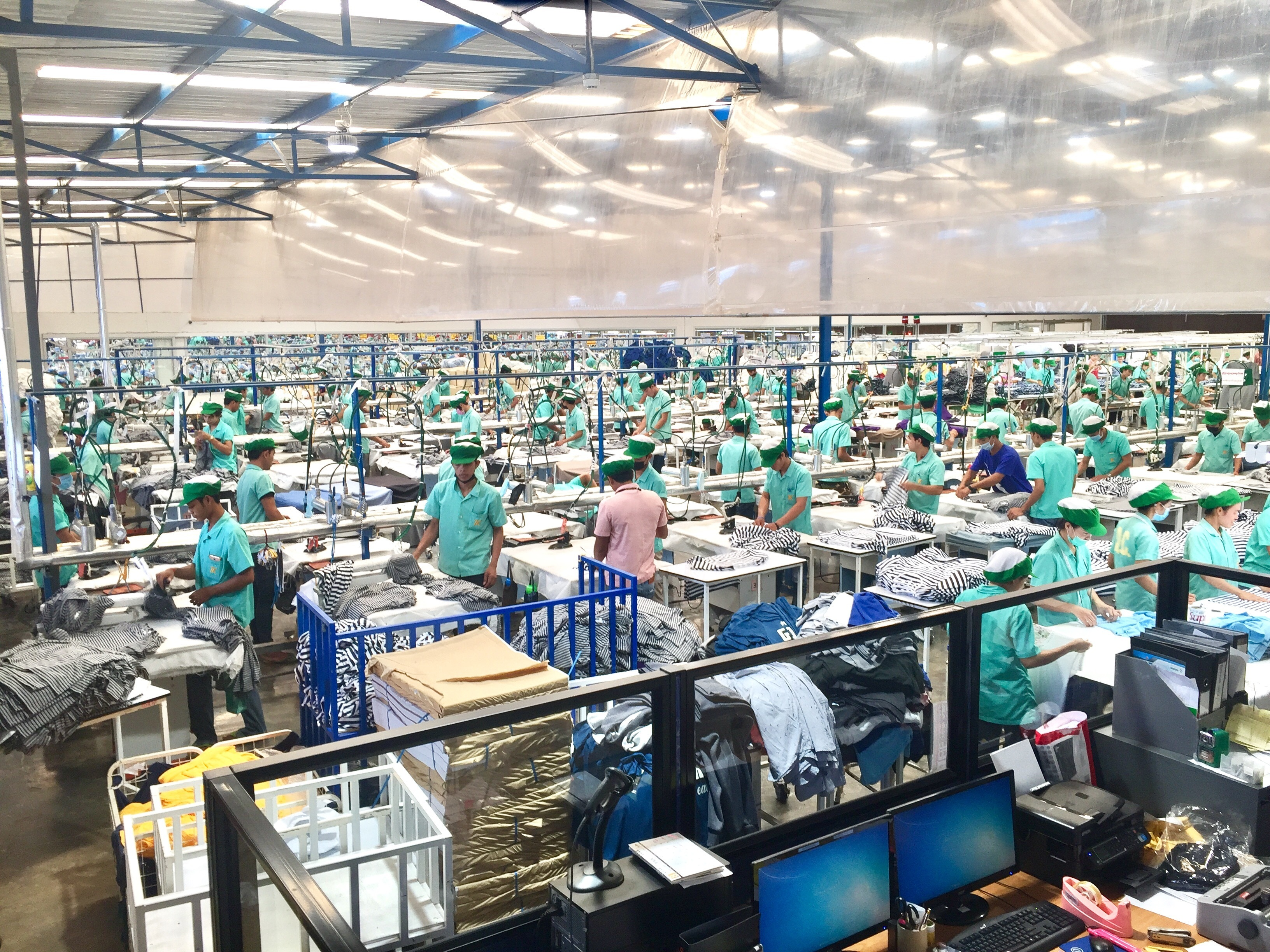 Factory workers in Sisophon, Cambodia.
