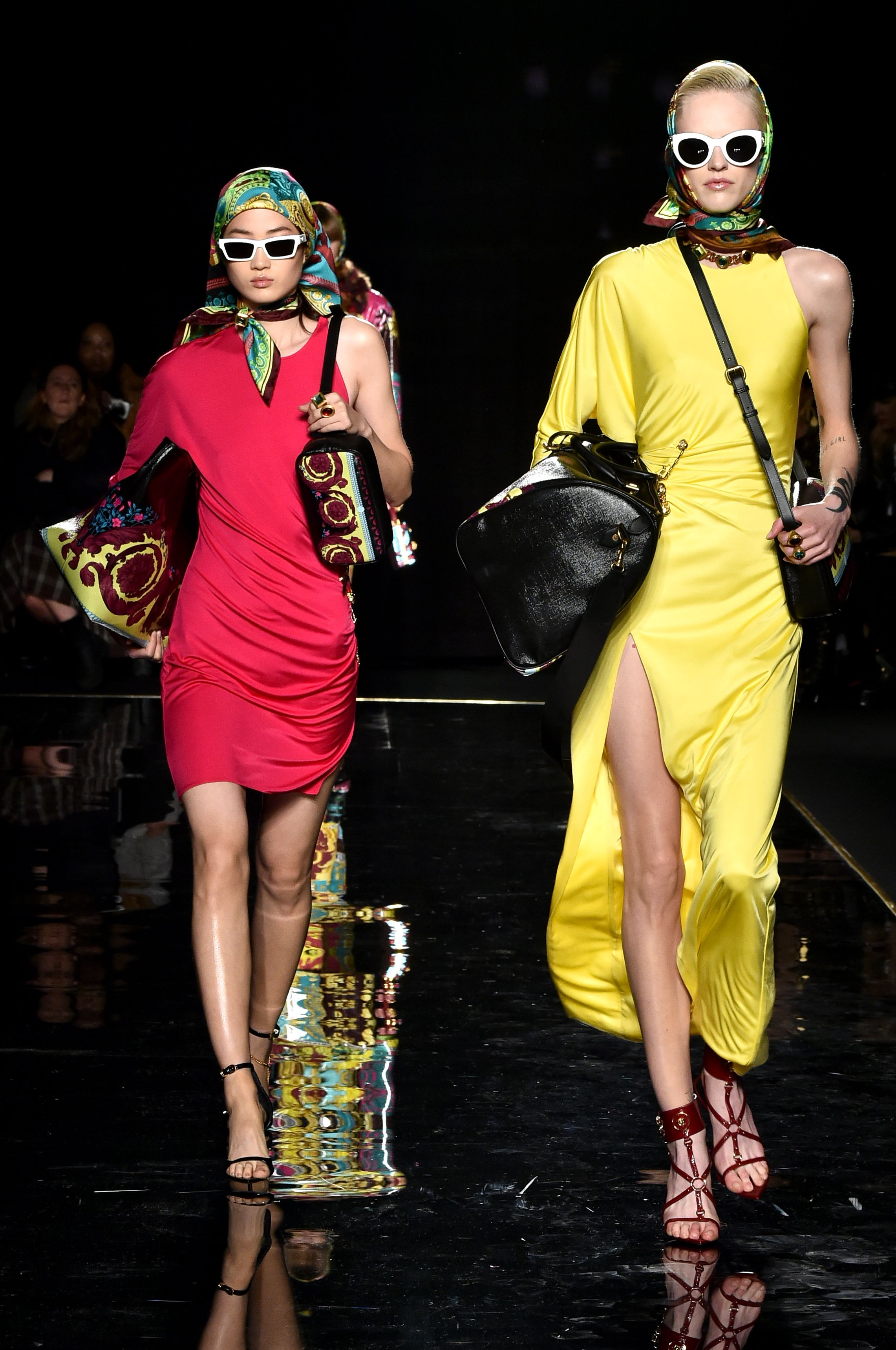 Looks from Versace's pre-fall collection.