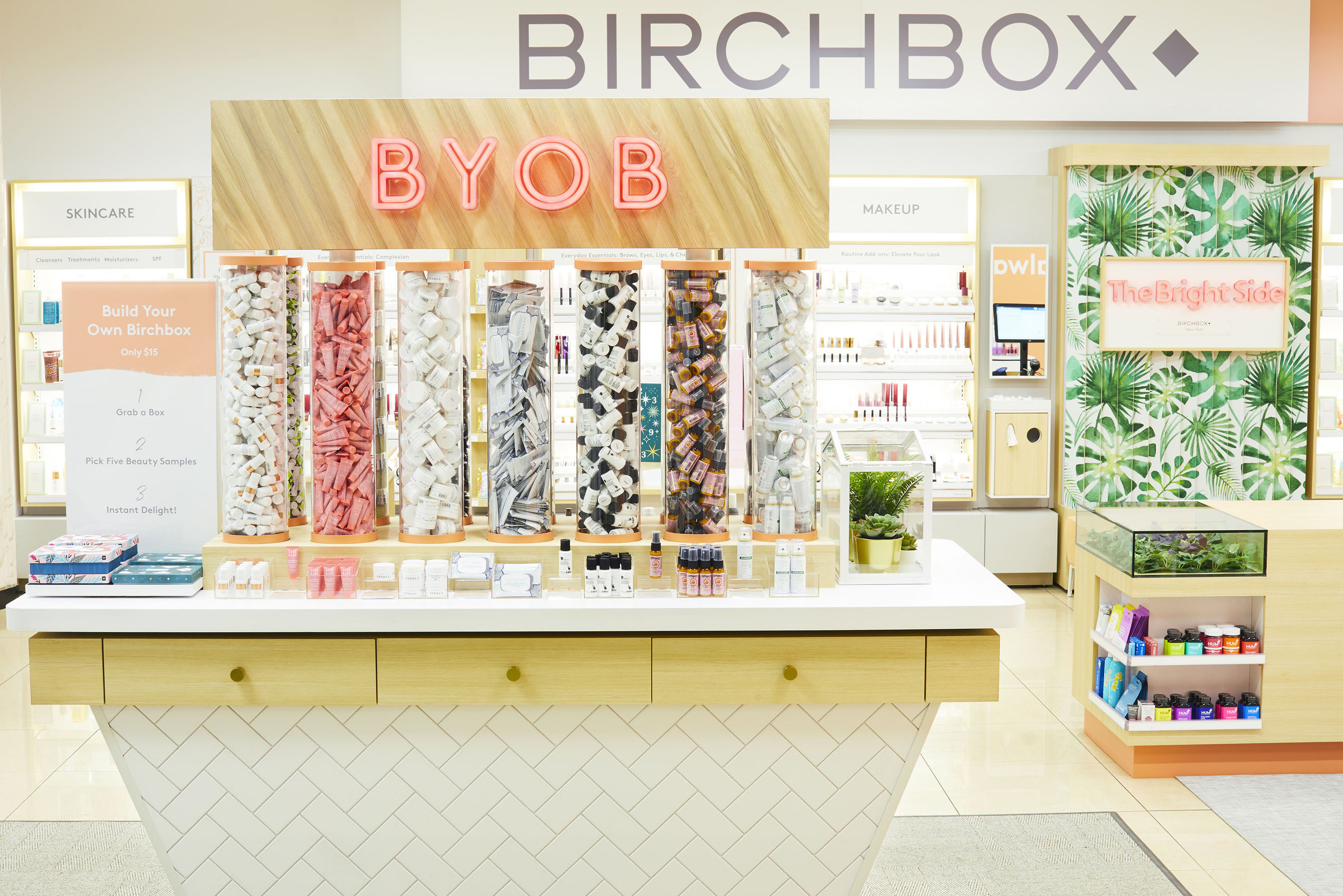 The Walgreens and Birchbox collaboration at a New York location.