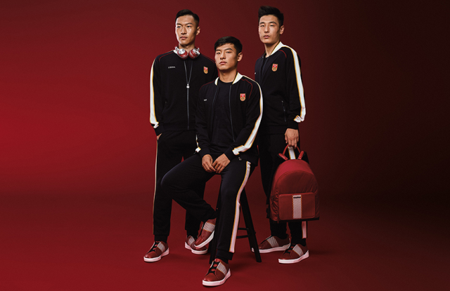 Zegna has created a special collection for Chinese soccer players.