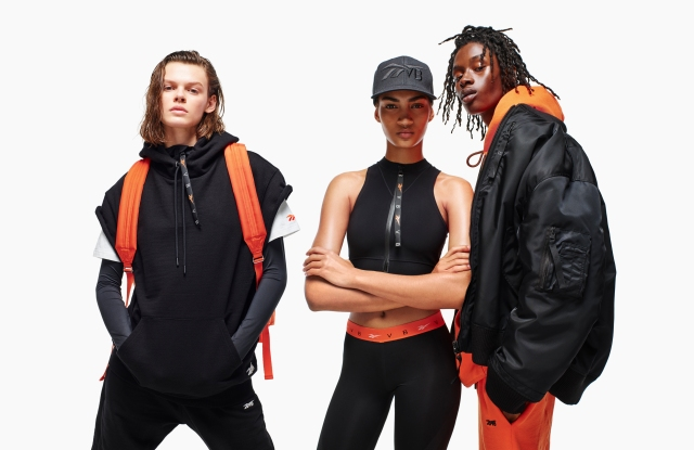 Designs by Victoria Beckham for her collaboration with Reebok.