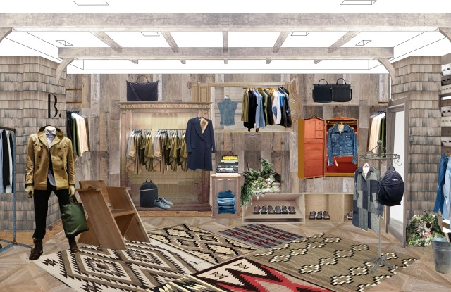 A rendering of the B shop at Bergdorf Goodman.