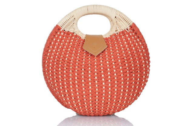 Fivestory's wicker balloon handbag.