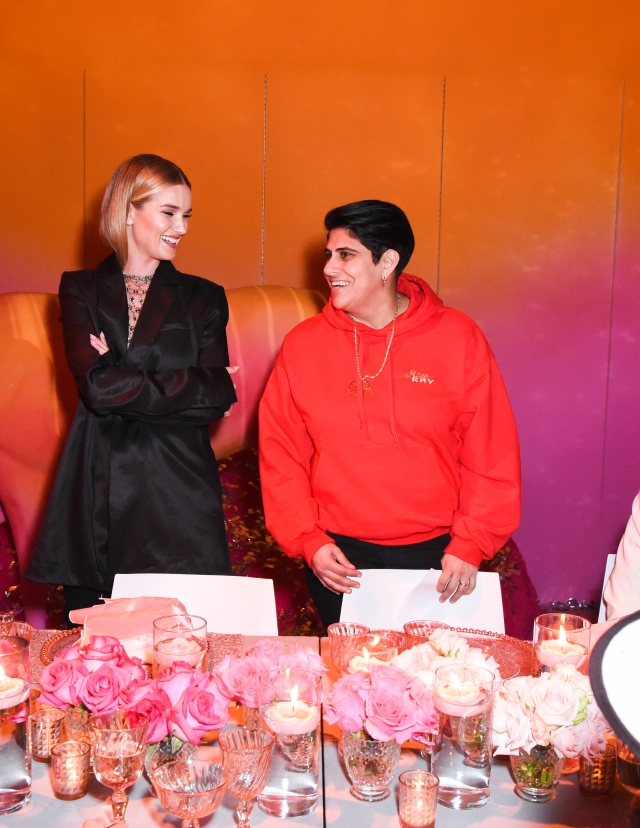 LOS ANGELES, CALIFORNIA - JANUARY 17: Rosie Huntington-Whiteley and Moj Mahdara attend Rose Inc. x Beautycon POP Intimate Dinner With Rosie Huntington-Whiteley on January 17, 2019 in Los Angeles, California. (Photo by Presley Ann/Getty Images for Beautycon)