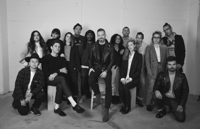 Simon Spurr and the design team of Seven For All Mankind.