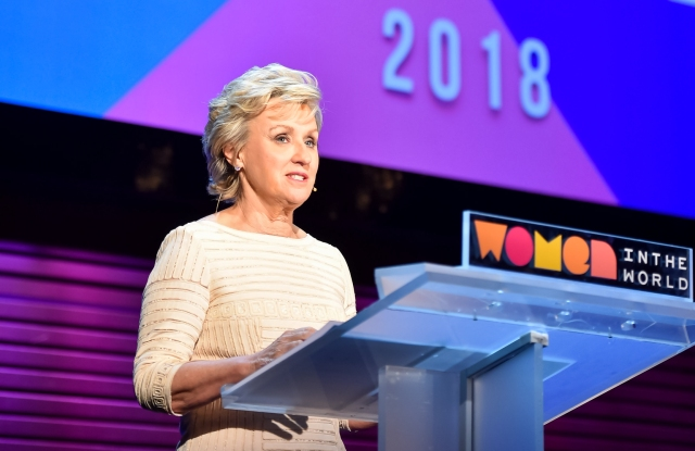 Tina Brown, Founder and CEO, Tina Brown Live Media/Women in the World at The 2017 Women In The World Summit in New York City; 4/12/2018