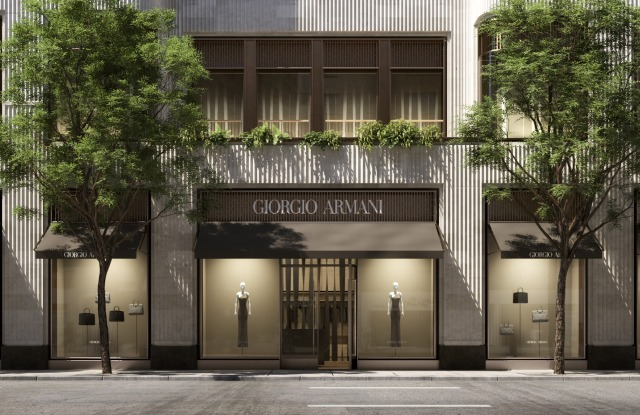 A rendering by Cookfox of the new Giorgio Armani store at 760 Madison Avenue.