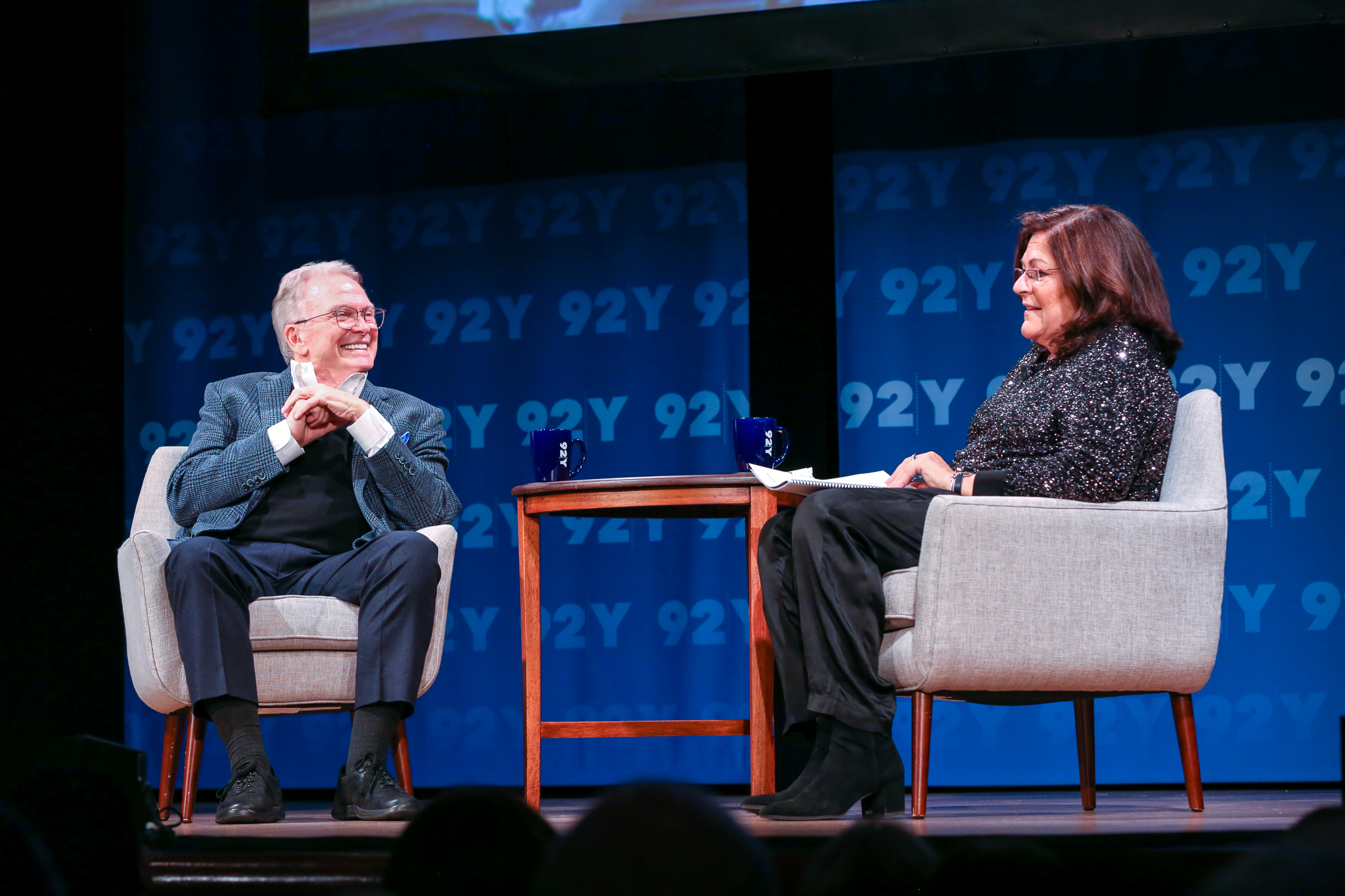 Bob Mackie and Fern Mallis at the 92nd Street Y.