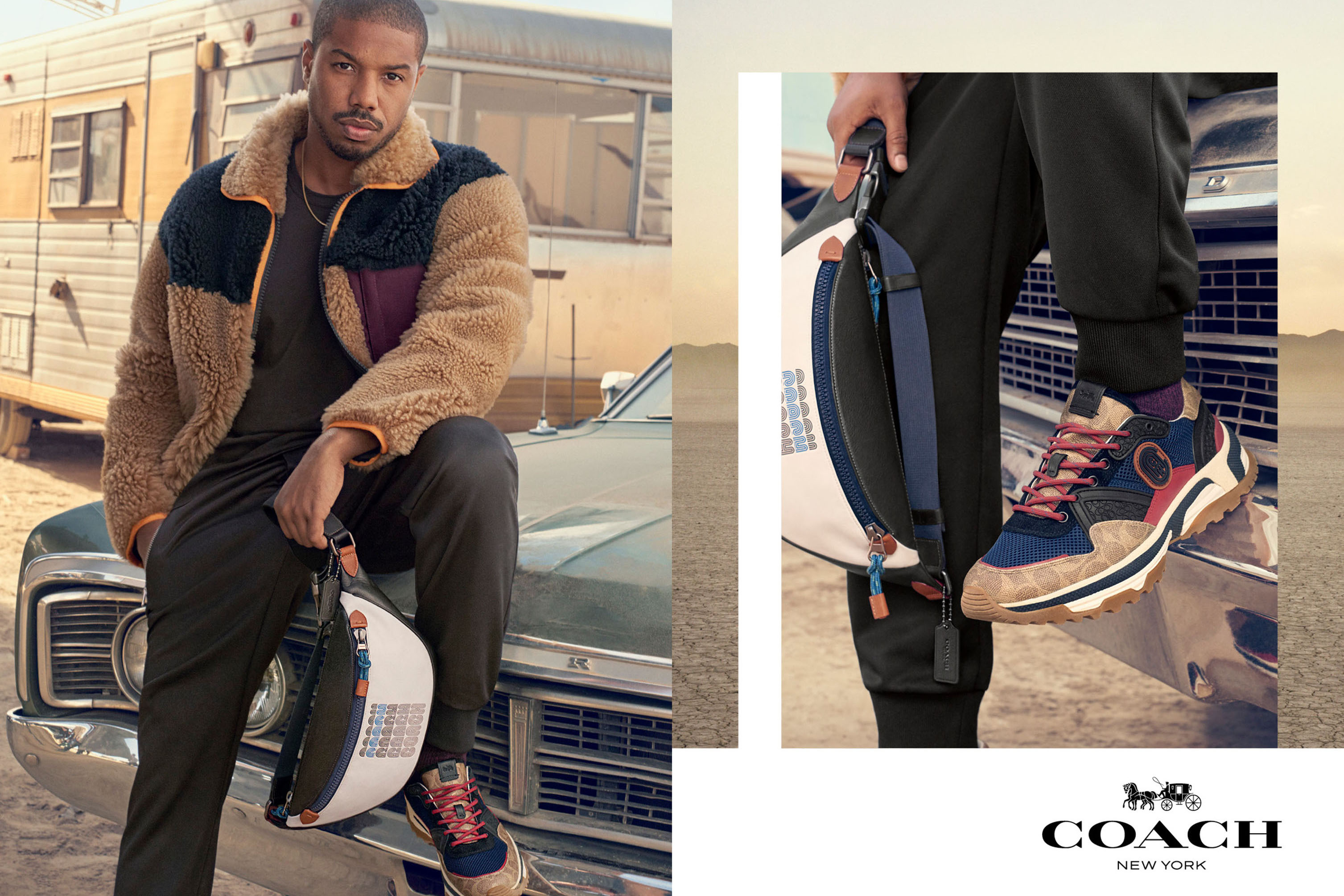 Michael B. Jordan for the Coach Spring 2019 ad Campaign.