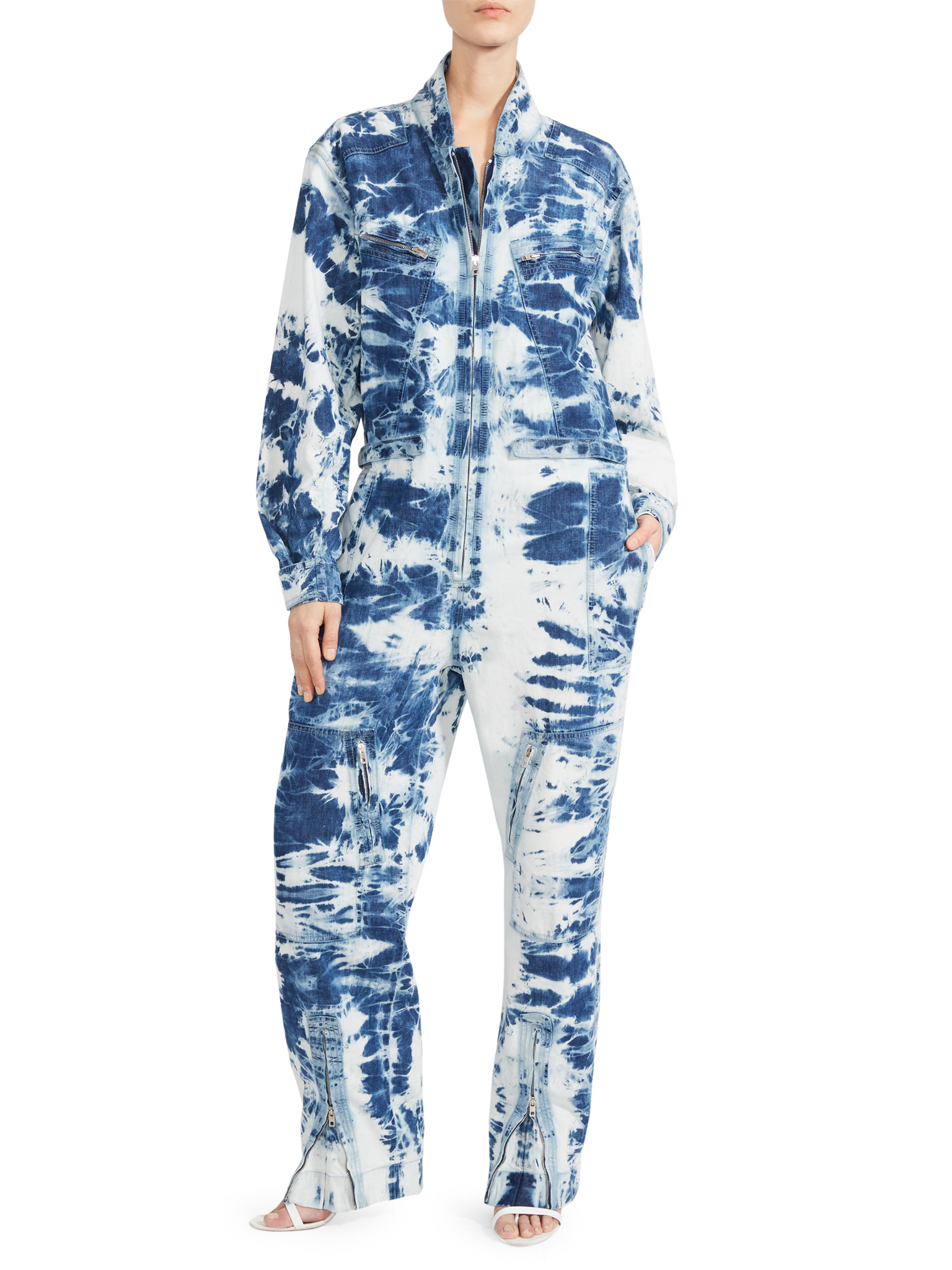 A tie-dye denim jumpsuit by Stella McCartney, expected to be a strong seller at Saks Fifth Avenue.