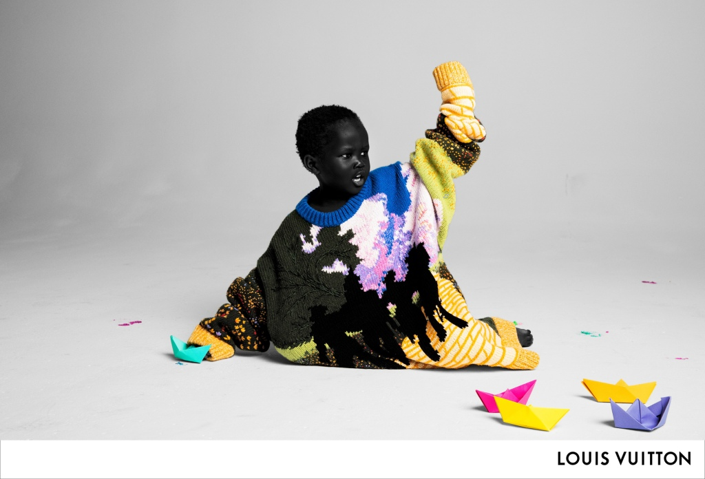 A still from Virgil Abloh's first ad campaign for Louis Vuitton