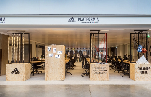 Adidas's Station A startup accelerator space