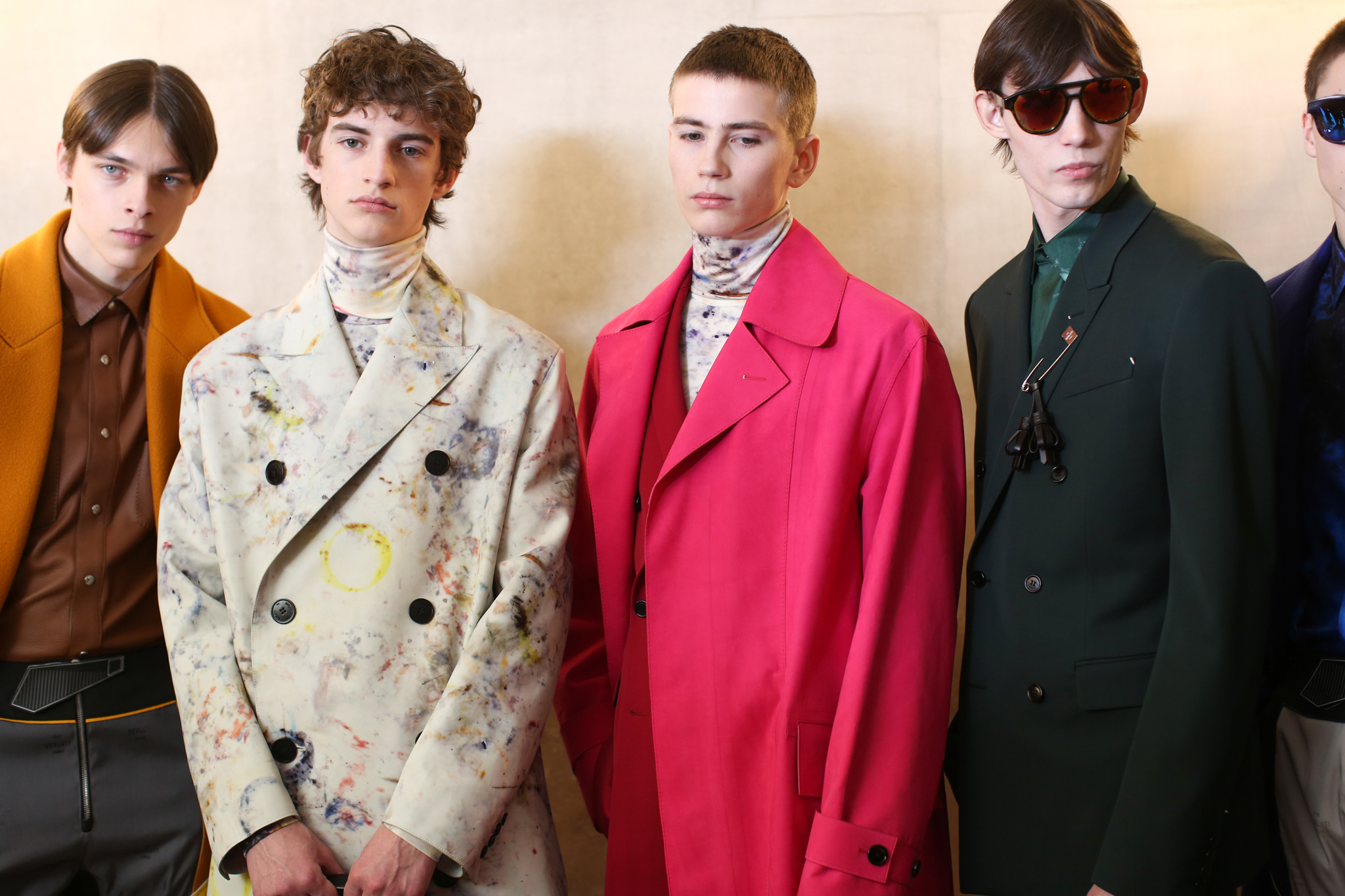Backstage at Berluti men's fall 2019