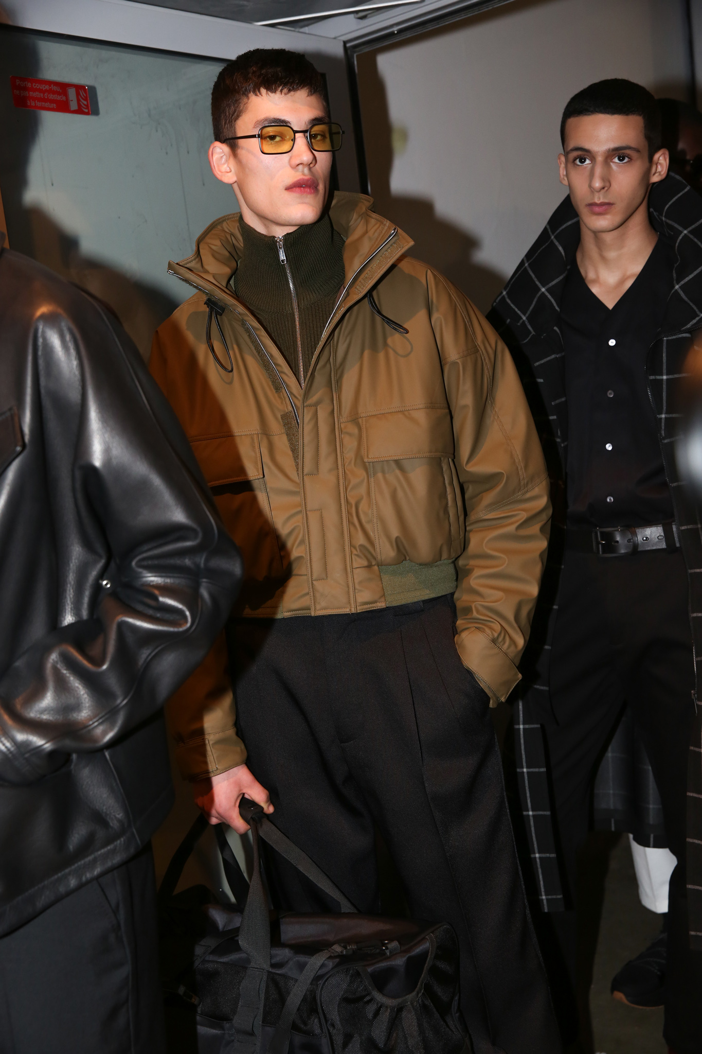 Backstage at Cerruti men's fall 2019
