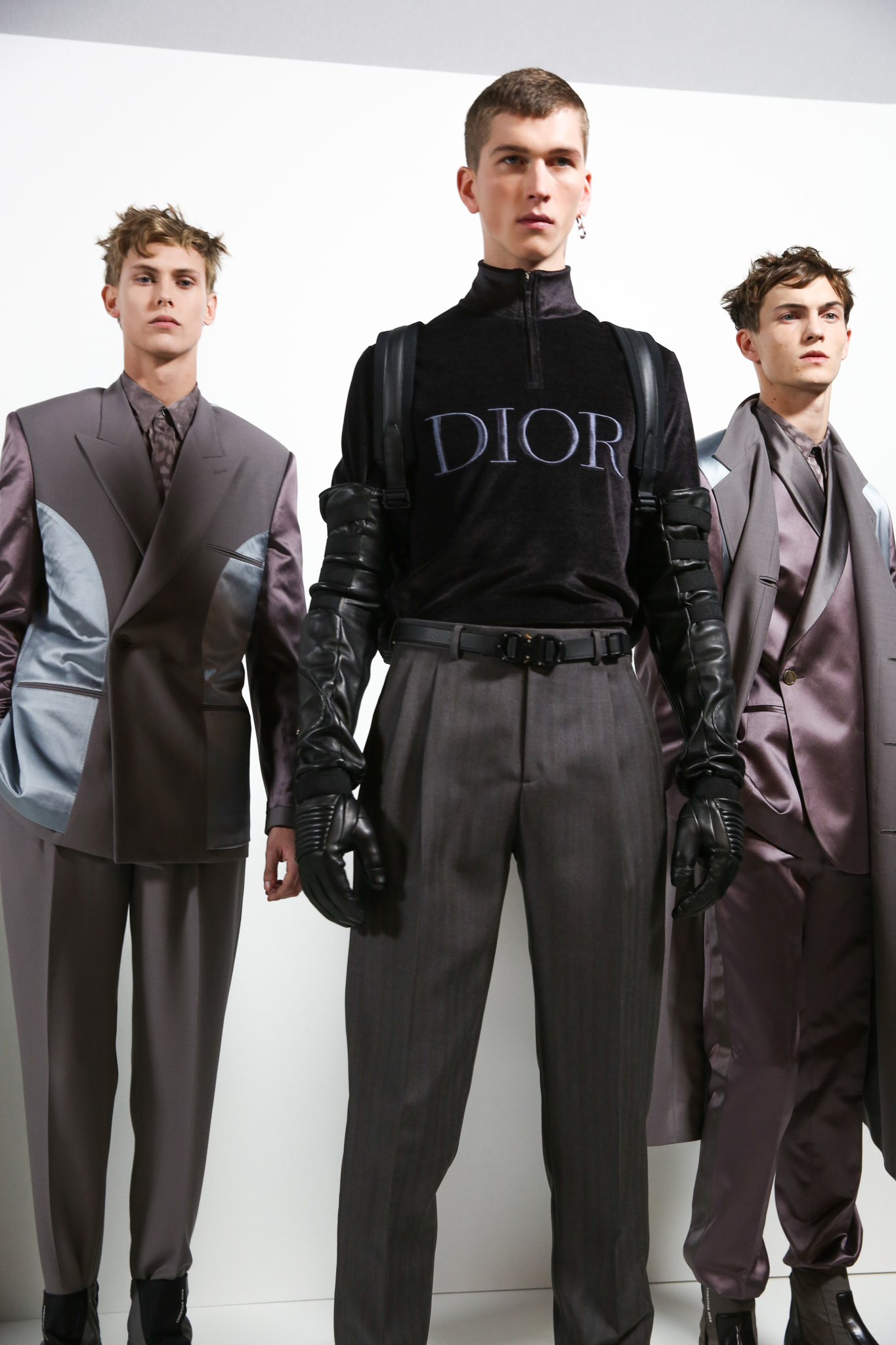 Backstage at Dior Homme men's Fall 2019