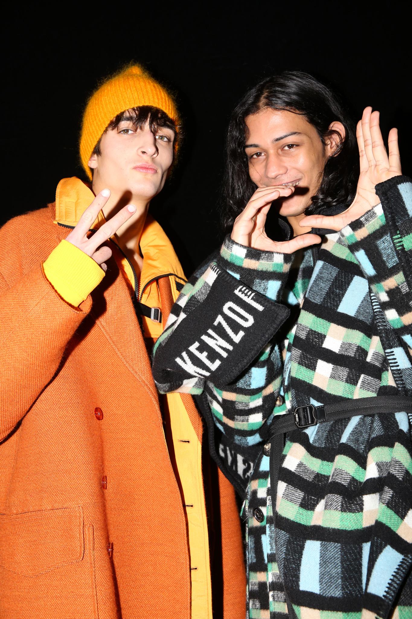 Backstage at Kenzo Fall 2019