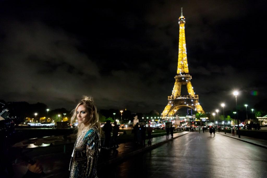 Chiara Ferragni while filming her docufilm in Paris.