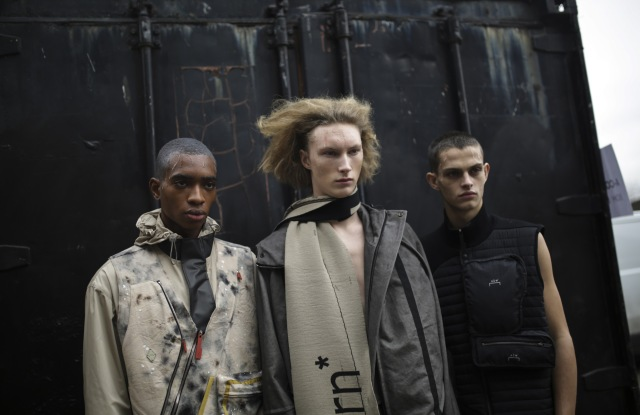 Backstage at A-Cold-Wall Men's Fall 2019