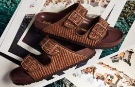 A raffia-inspired style from the Il Pellicano capsule for the A style from the Il Pellicano capsule for the Birkenstock 1774 collection.
