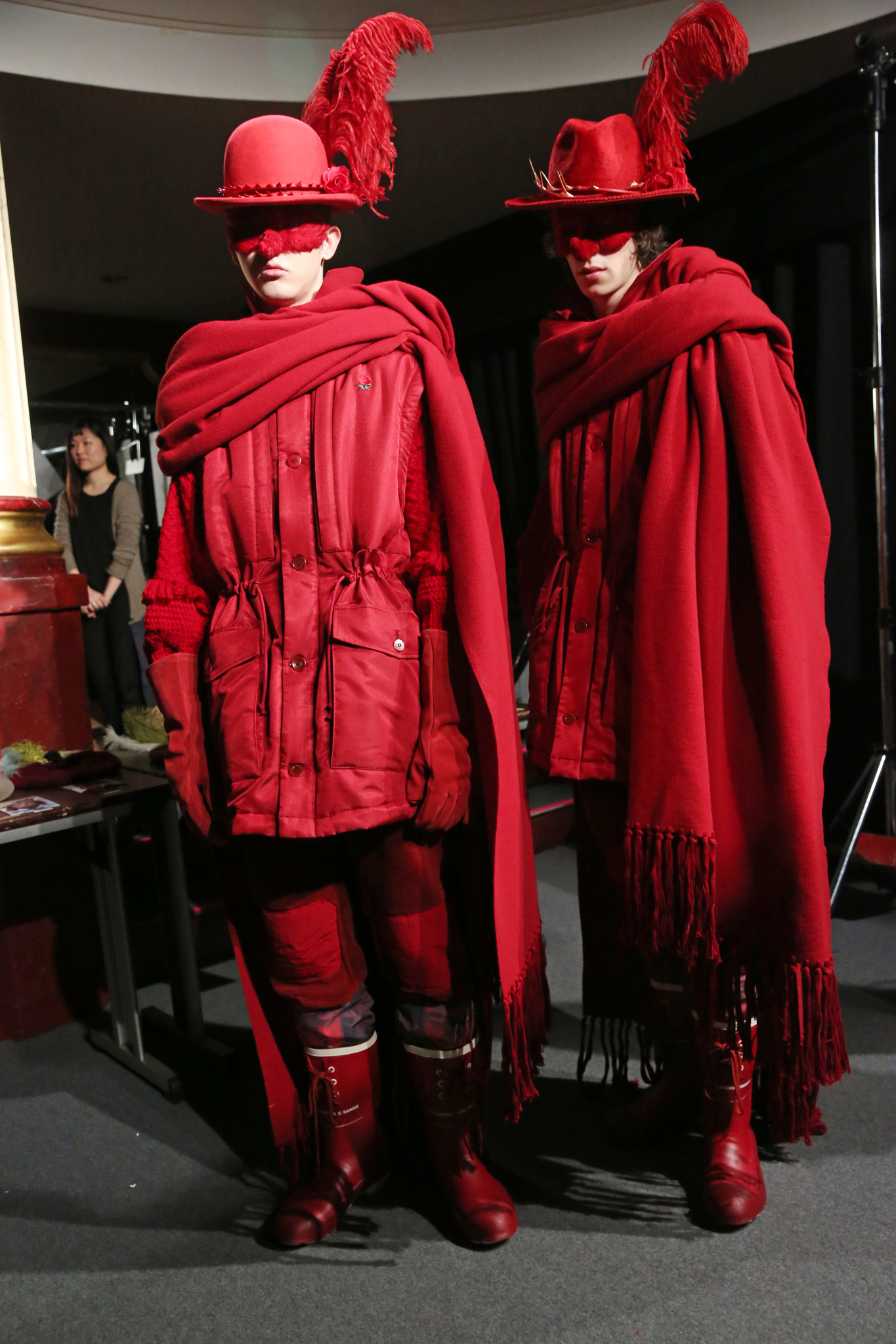 Backstage at Undercover Men's Fall 2019