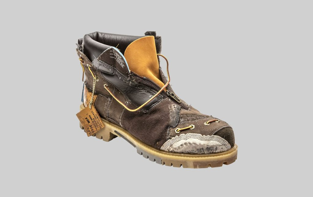 A boot sample from the Timberland Construct: 10061 project.